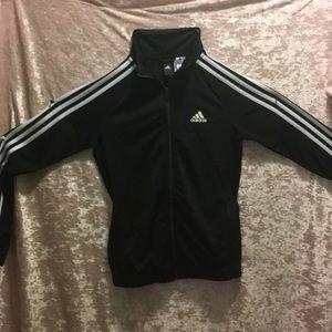 An XS, black & white Adidas jacket.